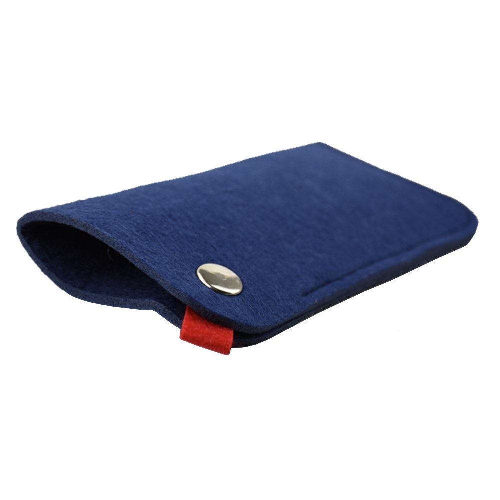 SZTARA - Originale astuccio portatile in morbido feltro per occhiali da sole o occhiali da lettura Blue Taglia unica GXpwj81WI