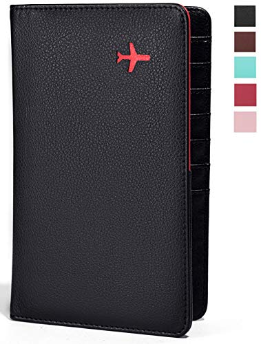 All in One Travel Wallet - 2 Passport Holder + Gift Box/cash tickets cards pen ()
