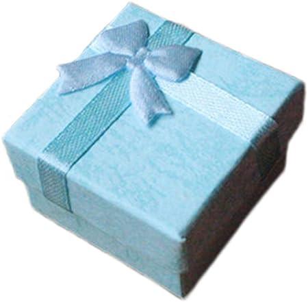 Da.Wa - Cajas cuadradas con lazo para regalar joyería, para guardar anillos, pendientes y otras joyas, 4 x 4 cm (5 unidades).: Amazon.es: Hogar