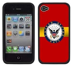 United States Navy Handmade iPhone 4 4S Black Hard Plastic Case