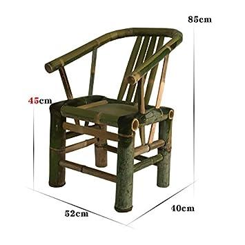 Chair Muebles Simples de bambú Retro Que Cena Las sillas Silla de salón Sillón Silla de bambú Silla de salón Sillas de Mano (Tamaño : C): Amazon.es: Hogar