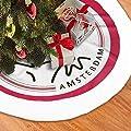 not Christmas Tree Skirt, Inches Ajax Amsterdam Large Xmas Skirt, Rustic Xmas Tree Holiday Decorations.