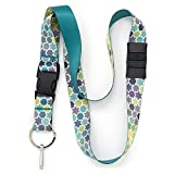 Buttonsmith Geometric Stars Premium Breakaway Lanyard - Safety Breakaway, Buckle and Flat Ring - Made in USA