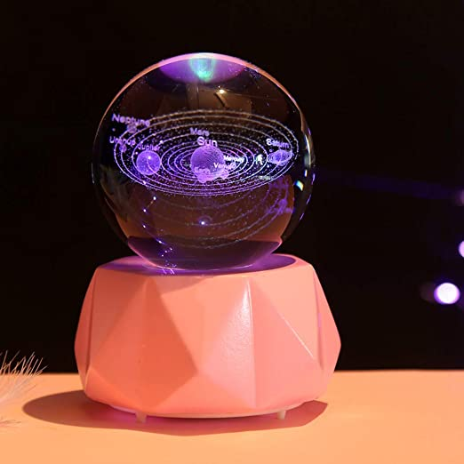 Amazon Com Iyom Music Box Glittery Crystal Ball Musical Box Crafts Best Gifts Dad Mom To Daughter Son For Christmas Valentine S Day Birthday 1013cm A 4 Home Kitchen