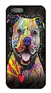 Beware of Pit Bulls PC Case Cover for iPhone 5 and iPhone 5s Black