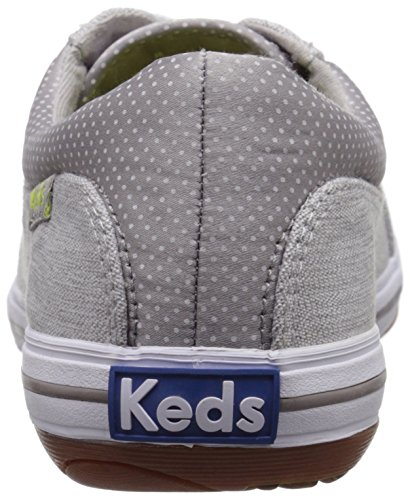 Keds Frauen Vollie LTT Sneaker Drizzle Grey Canvas