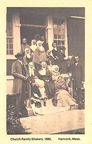 - Church Family Reproduction of 1880 image Hancock, Massachusetts Mass USA Shaker Postcard