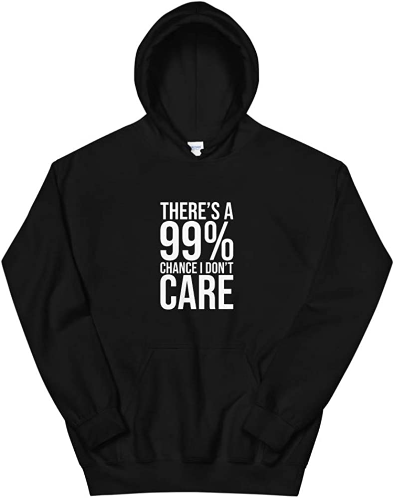 Quotablee Theres a 99 Chance I Dont Care Funny Gift Hole Shirt I Dont Care Sarcastic Hoodie