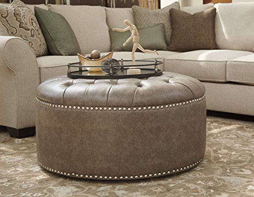 Wilcot Gray Color Oversized Accent Ottoman For Sale