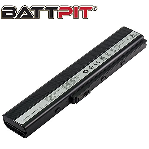 Battpit A32-K52 Laptop Battery Replacement for ASUS A52F A52J K52F X52N X52J X52F K52D K52J X42 Notebook 10.8V 4400mAh