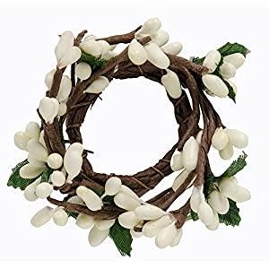 CWI Gifts 6-Piece 1-Inch Pip Berry Ring Set, Mini, Ivory 77