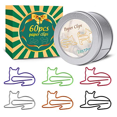 Paper Clips, Funny Paperclips Desk Accessories for Women Office, Cute Office Supplies for Women, Office Gift Cat Gifts for Cat Lovers, Cat Lover Gifts for Women Girls Coworkers