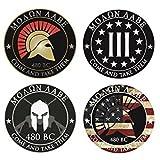 (4 Pack) Molon Labe Stickers / decals -Spartan Race Greece - 2nd Amendment Right Police Fire FOP 911 Car Sticker USA sticker decal