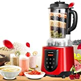BBG Automatic Intelligent Heating juicer, Home Multi-Functional Nutrition Health Breaking Machine, Soy Milk Agitator,red,One Size