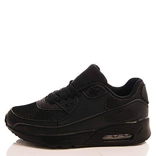 DE MUJER ZAPATILLAS GIMNASIO FITNESS DEPORTES CORRER MODA JOGGING ZAPATOS TALLA - S2 Todo Negro, UK 4 / EU 37 / USA 6 / AUS 5: Amazon.es: Zapatos y ...