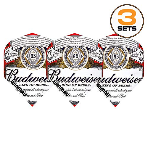 Art Attack Winmau Mega Budweiser King of Beers 75 Micron Strong Dart Flights (3 Sets)