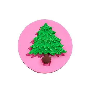 Molde de silicona para árbol de Navidad, molde de jabón, arcilla, decoración de