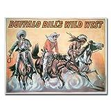 Buffalo Bill's Wild West Show, 1898, 35x47-Inch Canvas Wall Art