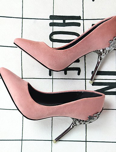 GGX/Damen Schuhe Leder High Heels Spitz Toe Heels Hochzeit Party & Abend Kleid Stiletto Heel Frauen Pumpe pink-us7.5 / eu38 / uk5.5 / cn38
