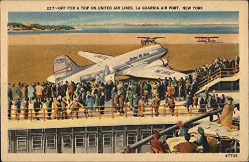 (La Guardia Air Port New York New York City Original Vintage Postcard )