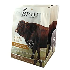 Epic Hunt & Harvest, 100% Grass Fed, Beef Jerky, Harvest Nuts Mix, 2.25 ounce, 8 Count