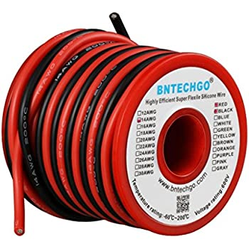 12 gauge silicone wire 10 feet 12 awg silicone wire flexible bntechgo 14 gauge silicone wire spool 40 feet ultra flexible high temp 200 deg c 600v 14 awg silicone wire 400 strands of tinned copper wire 20 ft black and greentooth Gallery