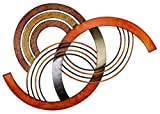 Deco 79 Metal Wall Decor, 38 by 2 Inch