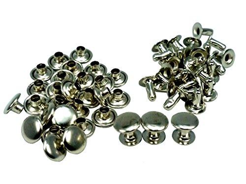 [해외]패밀리 (FAMILY TOOL) 단면 스 테이킹 (머리 직경 9mm× 足長 8mm) 실버 30 쌍 법 56217 / Family Tool 1 Single-sided Caulking Large (Head Diameter 9mm x Foot Length 8mm) Silver 30 Pairs 56217