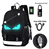 A-MORE Anime Luminous Backpack Noctilucent School Bags Daypack USB chargeing port Laptop Bag