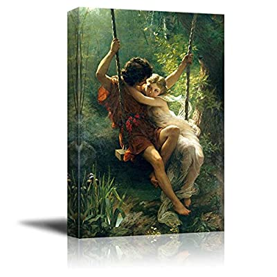 Spring Time by Pierre Auguste Cot Giclee Canvas Prints Wrapped Gallery Wall Art | Stretched and Framed Ready to Hang - 16