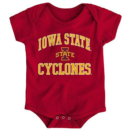 Gen 2 NCAA Iowa State Cyclones Newborn & Infant Primary Logo Bodysuit, 0-3 Months, Dark Red