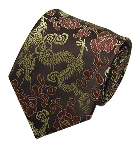 Mens Golden Wine Red Coffee Tie Woven Soft Party Dating Necktie Great Gift Idea