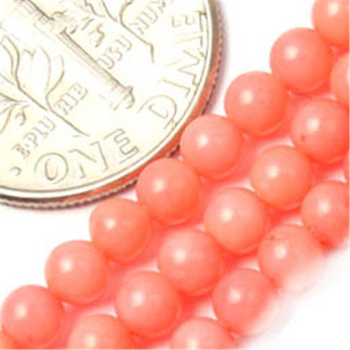 (GEM-inside Coral Gemstone Loose Beads 3mm Round Pink Seed Natural Energy Healing Power Beads for Jewelry Making 15