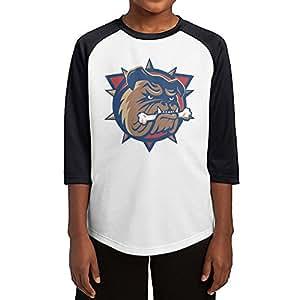 Youth Boys & Girls OHL Hamilton Bulldogs 3/4 Sleeve Baseball Raglan Tee Jersey Small Black