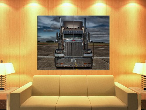 PhotoSight Peterbilt Truck Trailer Car Chrome Awesome 47x35 Huge Giant Print Poster (Awesome Picture Of Cars)