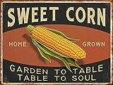 Barnyard Designs Sweet Corn Retro Vintage Tin Bar Sign Country Home Decor 10'' x 13''