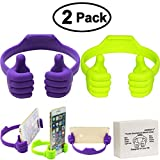Cell Phones Accessories Best Deals - Honsky Thumbs-up Phone Stand for Tablets, E-readers and Smart Phones - 2 Pack - Green, Purple