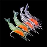4Pcs Silicone Simulation Noctilucent Soft Prawn Shrimp Fishing Lure Hook Bait