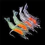 4Pcs Silicone Simulation Noctilucent Soft Prawn Shrimp Fishing Lure Hook Bait