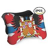 HASKDWHHK Spain Flag Portugal Flag Car Neck Pillow (Soft Version)- Neck Pillow, Car Pillow, Memory Foam Neck Pillow, Neck Rest Pillow