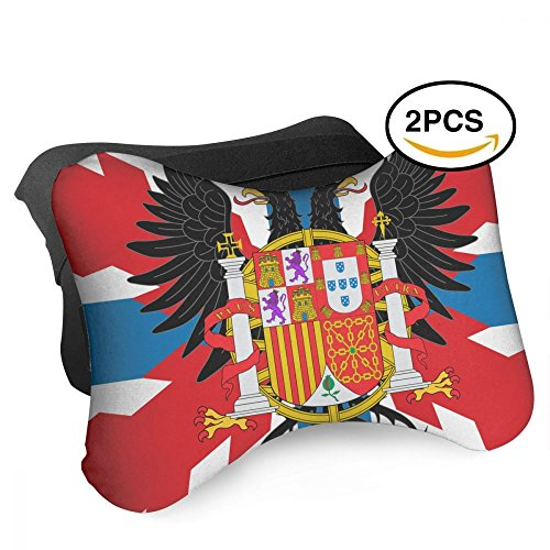 HASKDWHHK Spain Flag Portugal Flag Car Neck Pillow (Soft Version)- Neck Pillow, Car Pillow, Memory Foam Neck Pillow, Neck Rest Pillow by HASKDWHHK