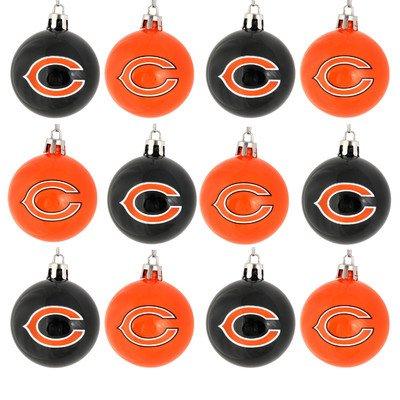 NFL Ball Ornament (Set of 12) NFL Team: Chicago Bears - Chicago Bears Christmas Ornament