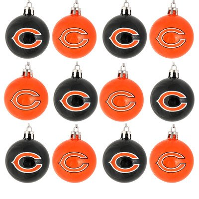 NFL Ball Ornament (Set of 12) NFL Team: Chicago Bears