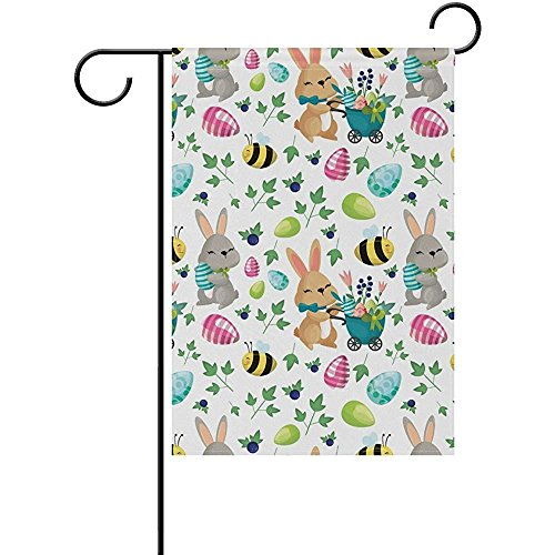 Easter Elements (Easter Elements Seasonal Holiday Polyester Garden Yard Flag Banner 12 x 18 inches Decorative Flag for Home Indoor Outdoor Decor)