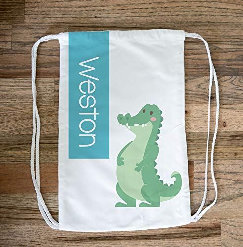 Towels2 Alligator Drawstring Bag Pack Cinch Bag - Personalized Alligator Beach Bag Pack Rucksack for Kids, Alligator Gifts, Kids Swim Bag, Pool Bag, Alligator Drawstring Backpack for Everyone]()