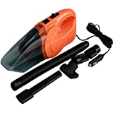 Car Vacuum Cleaner, NUWA 12V 120W Portable Mini Wet/Dry Auto Vacuum Dust Buster Handheld Cleaner with 16.4FT Power Cord with Cigarette Lighter,3000PA above Suction Hand Vac (Orange)