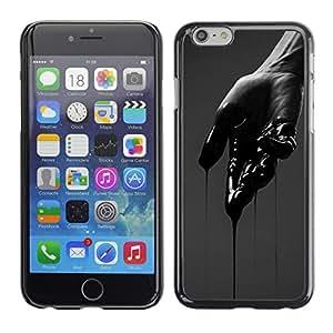 For Apple iPhone 6(4.7 inches) Case , Hand Dark Emo Deep Cut Pain - Diseño Patrón Teléfono Caso Cubierta Case Bumper Duro Protección Case Cover Funda
