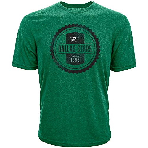 - Levelwear NHL Dallas Stars Mens Richmond Bottle Cap Tee, Rider Green, X-Large