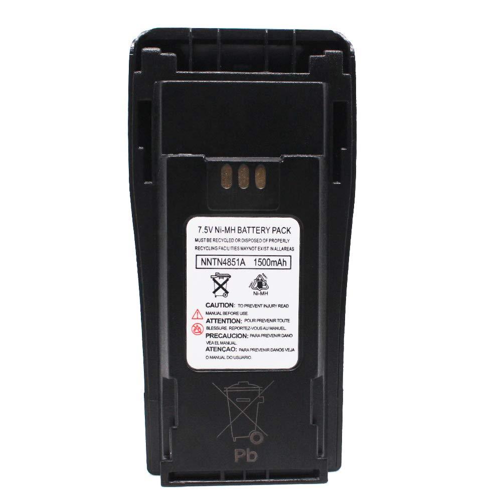 NNTN4851A NNTN4851 1500mAh NI-MH Battery Compatible with Motorola CP040, CP140, CP150, CP160, CP180, CP200, EP450, GP3188, GP3688, MTX1000, MTX888, PR400, CP200XLS, CP340, CP360, CP380, GP3138 Yeacomm