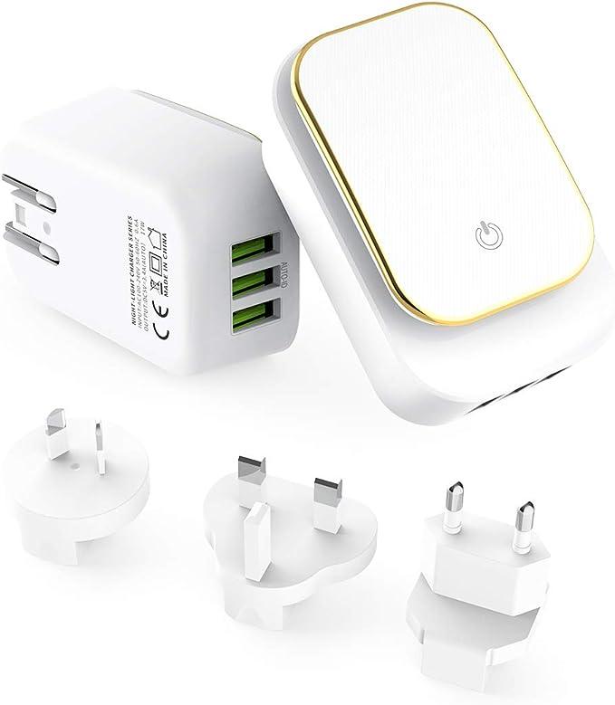 Alitoo Cargador USB Multipuerto, Adaptador de Corriente Móvil ...